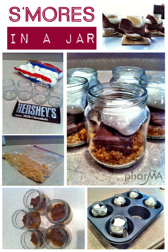 How to make S'mores in a jar