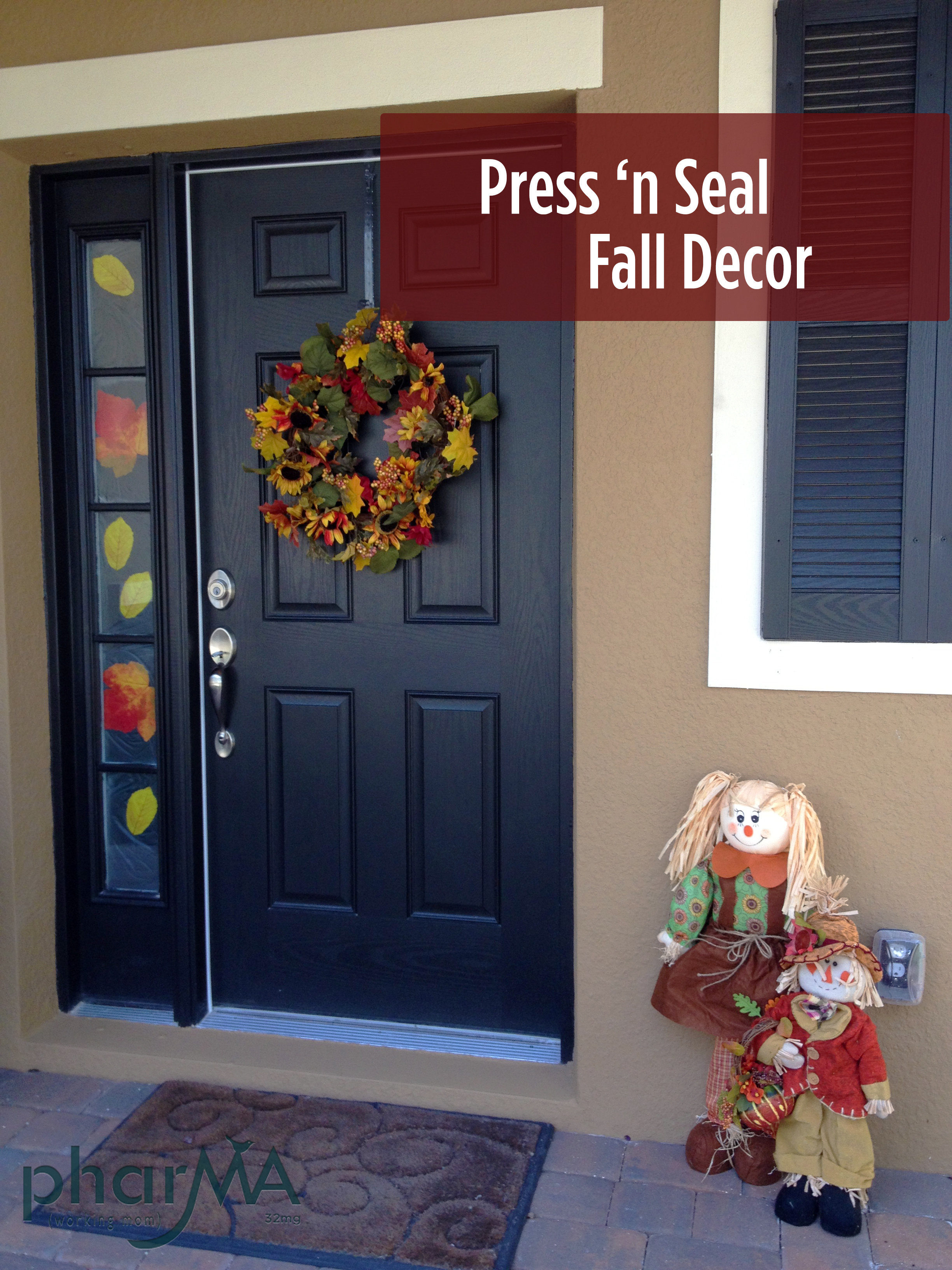 Easy Last Minute Press 'N Seal Fall Decor