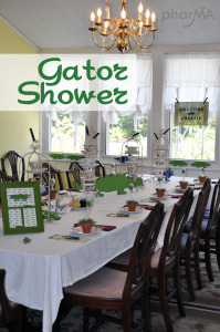Gator Baby Shower, Alligator Baby Shower, UF Inspired Baby Shower